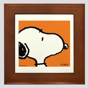 Fresh Orange Snoopy Framed Tile
