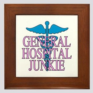 General Hospital Junkie Framed Tile