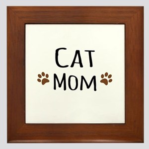 Cat Mom Framed Tile