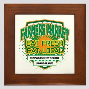 Personalized Farmers Market Framed Tile