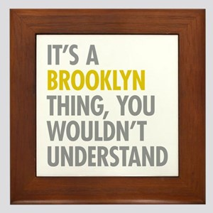 Brooklyn Thing Framed Tile
