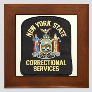 New York Corrections Framed Tile