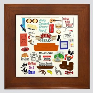 Friends TV Show Collage Framed Tile