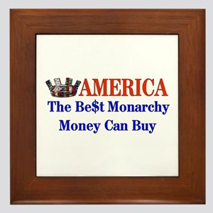 America For Sale Framed Tile