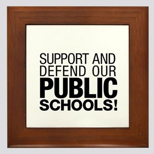 Support Public Schools Framed Tile