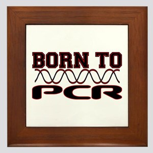 Born to PCR Framed Tile