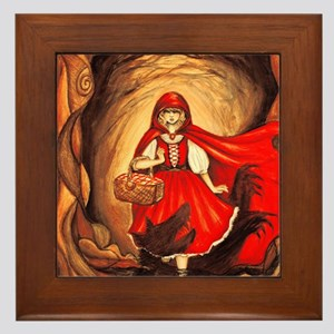 RedRidingHood2 Framed Tile