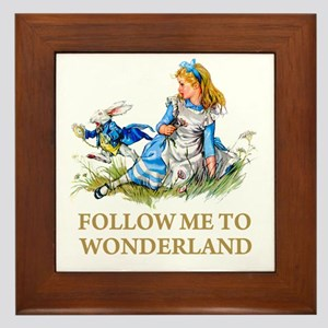 FOLLOW ME TO WONDERLAND Framed Tile