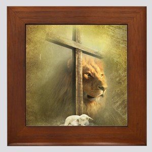 Lion of Judah, Lamb of God Framed Tile