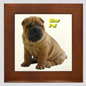 Shar Pei Framed Tile