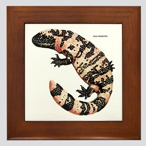 Gila Monster Lizard Framed Tile
