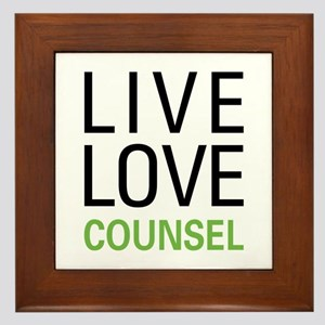 Live Love Counsel Framed Tile