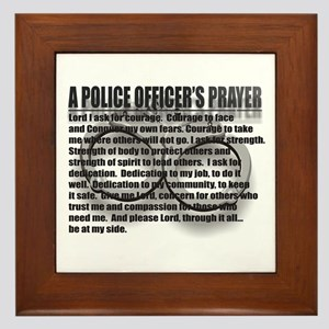 A POLICE OFFICER'S PRAYER Framed Tile