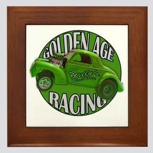 golden age willys green Framed Tile