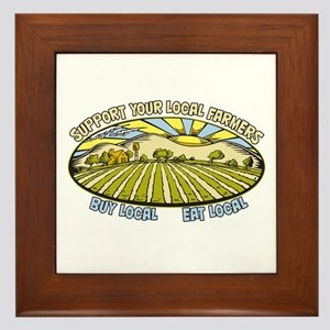 Support Your Local Farmers Framed Tile