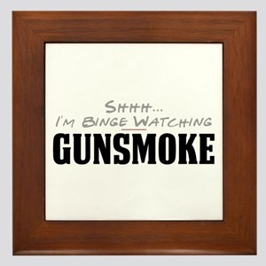 Shhh... I'm Binge Watching Gunsmoke Framed Tile