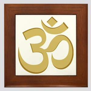 Om, Gold Framed Tile