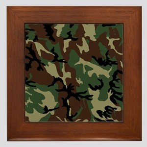 camo-green_ff Framed Tile