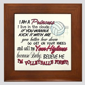 Volleyball's Finest Framed Tile