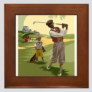 Golf Game Framed Tile