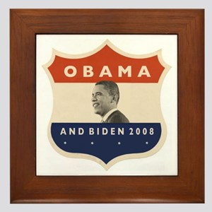 Obama / Biden JFK '60 Shield Framed Tile