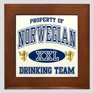 Norwegian Drinking Team Framed Tile