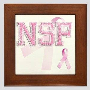 NSF initials, Pink Ribbon, Framed Tile