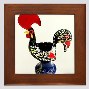 Portugal Rooster Lenda do Galo de Barc Framed Tile