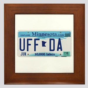 "Minnesota ""Uffda"" Framed Tile"