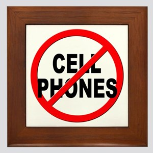 Anti / No Cell Phones Framed Tile