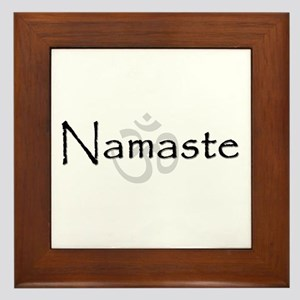 Namaste Framed Tile