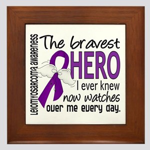 Bravest Hero I Knew Leiomyosarcoma Framed Tile