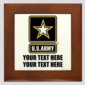 CUSTOM TEXT U.S. Army Framed Tile