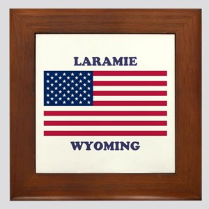 Laramie Wyoming Framed Tile