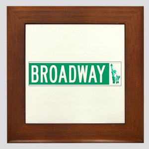 Broadway (with Statue of Liberty), NYC Framed Tile