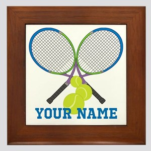 Personalized Tennis Player Framed Tile