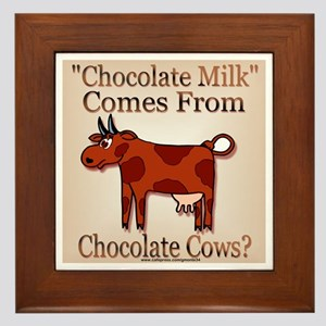 Chocolate Milk Framed Tile