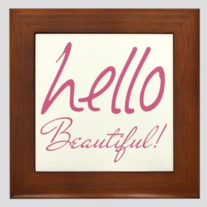 Gifts for Her Hello Beautiful Pink Framed Tile