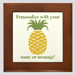 Personalized Pineapple Framed Tile