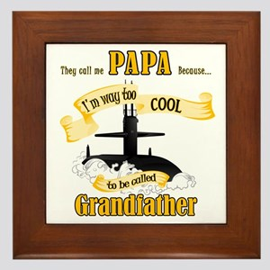 Papa Submariner Vet Framed Tile