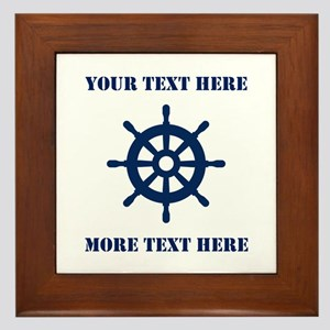 Custom Nautical Ship Wheel Framed Tile For Sailor