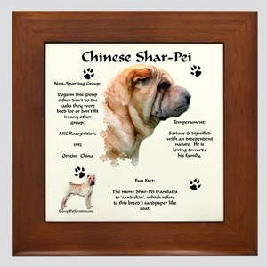 SharPei 1 Framed Tile