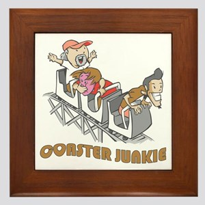 Roller Coaster Junkie Framed Tile