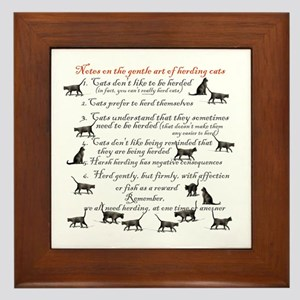 Herding cats Framed Tile