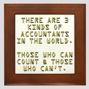 3 Accountants Framed Tile