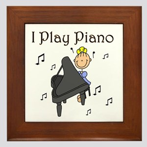 I Play Piano Framed Tile