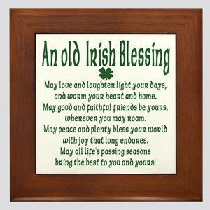 Old irish Blessing Framed Tile