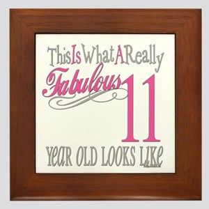 11th Birthday Gifts Framed Tile
