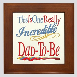 Incredible Dad-To-Be Framed Tile