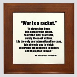 War is a Racket Framed Tile